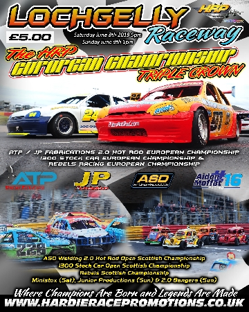 Souvenir race programme from the 2019 June Speed Weekend, featuring the 2.0 Hot Rod European Championship and a spread featuring Aiden Moffat.