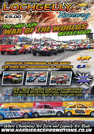 Souvenir Race Programme from the HRP War of the Worlds, double world championship weekend on Saturday 31st August 2019 and Sunday 1st September 2019.<br />